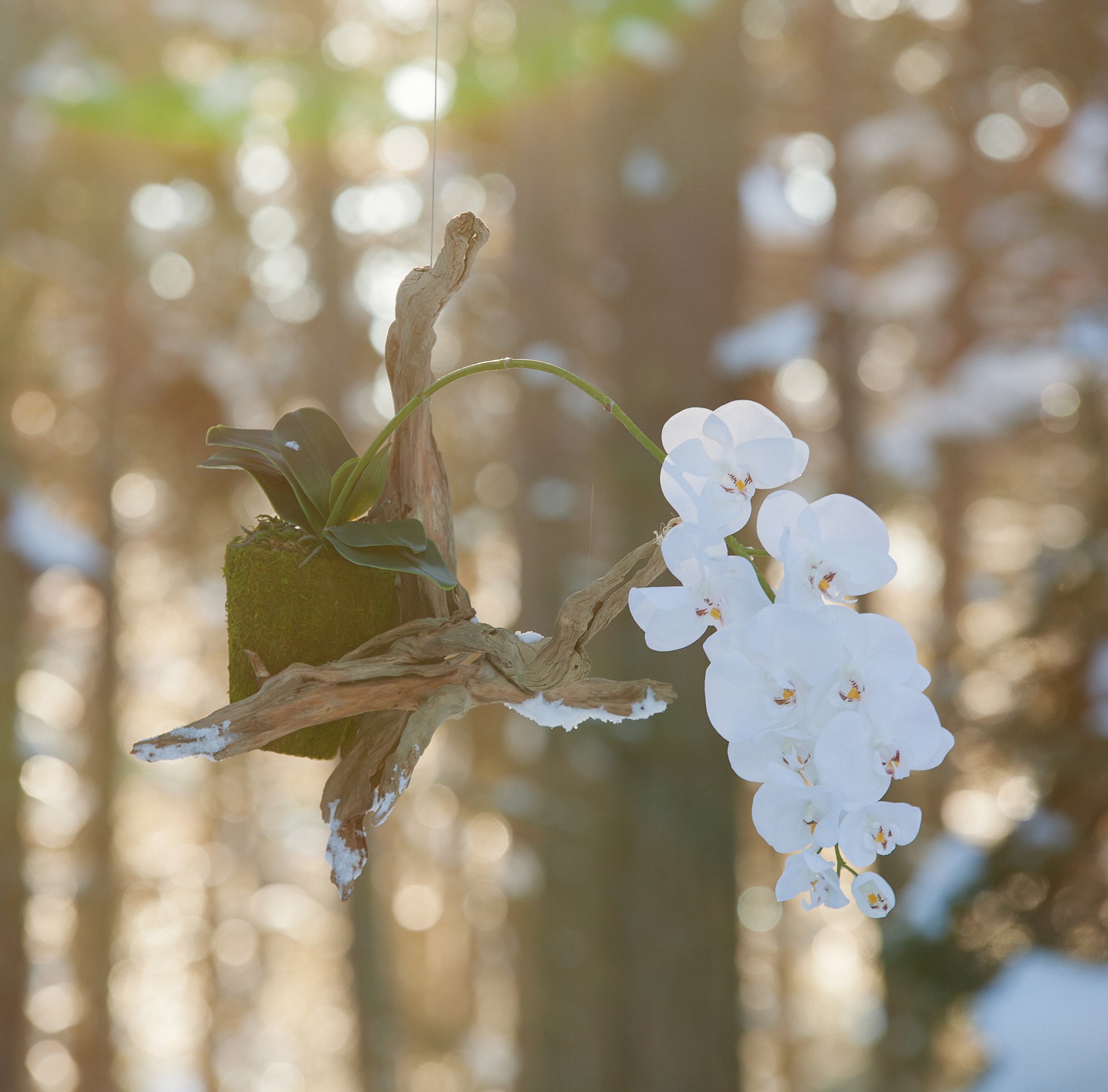 support floral suspendu